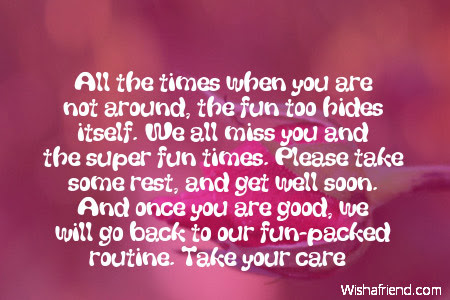 All The Times When You Are Get Well Message