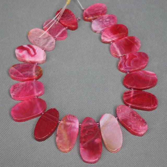 Goede Kopen 15.5 Inch Volledige Strand Kindgems Red Druzy Gems Stone Ketting Vinden, Slab Slice Ruwe Steen Connector Kralen Hanger Gepolijst Goedkoop