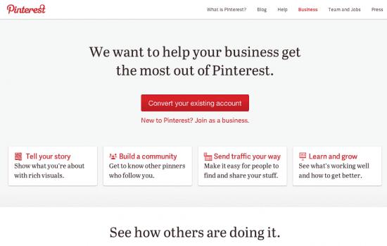 Pinterest Business Page Convert