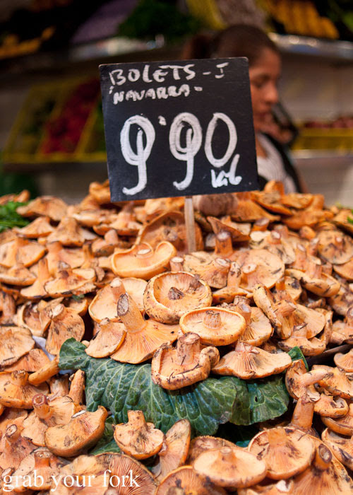 Pine mushrooms at La Boqueria, Barcelona