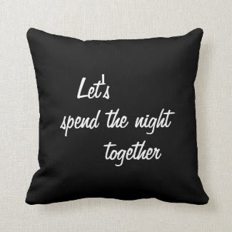 Flirty Romantic love Quote Throw Pillow
