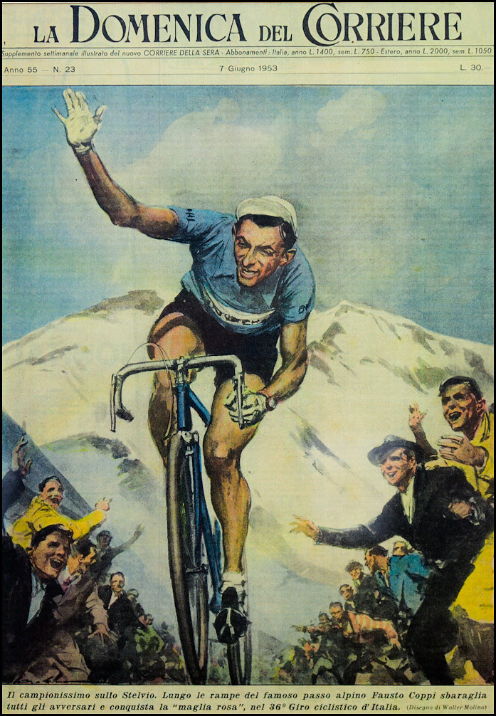 Fausto Coppi on the Stelvio