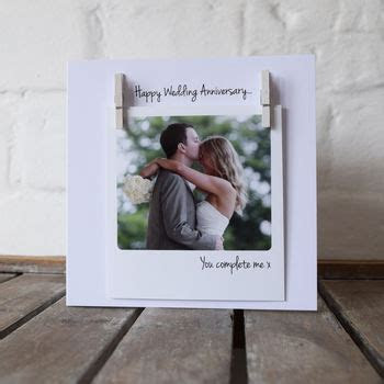 personalised peg photo wedding anniversary card by jg