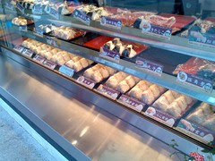 A wide selection of omusubi, both seaweed and sesame covered