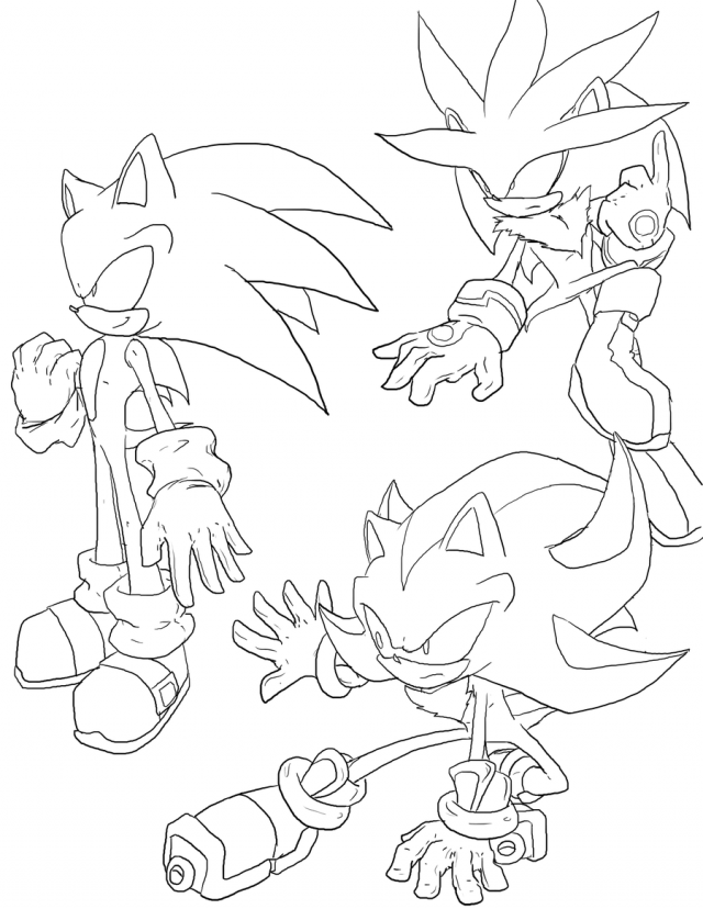 Shadow The Hedgehog Coloring Pages For Kids Coloring Home