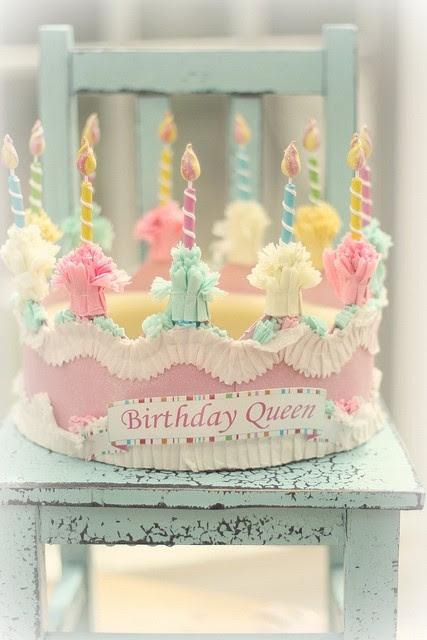 birthday, birthday candles, birthdaycake, blue, cake, candles, celebration, chair, green, happy, happybirthday, party, party hat, pastel, pink, queen, sweet, vintage, yellow, birthdayqueen, birthday crown
