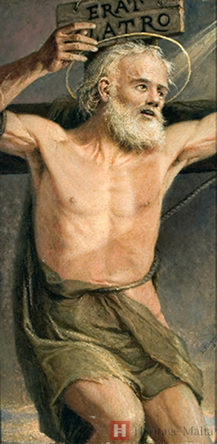 img ST. DISMAS the Good Thief, Crucified next to Christ