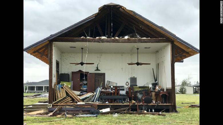 Rockport home sliced in half from Hurricane Harvey.