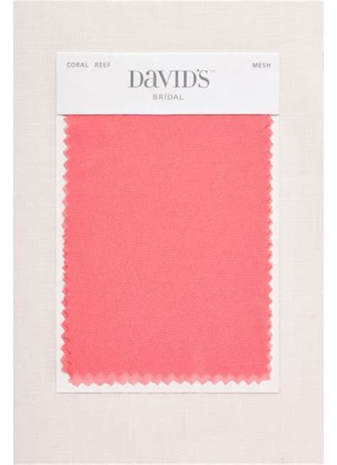 Coral Reef Fabric Swatch   Davids Bridal