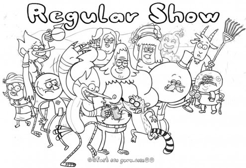 printable cartoon network regular show coloring pages  free printable coloring pages for kids