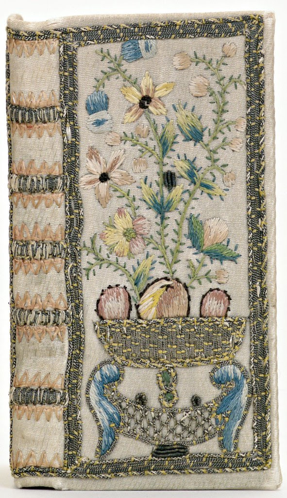 Embroidered silk (anon.) 'Notebook' 1775 France