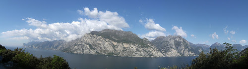 view from Tempesta of the other side of the lake