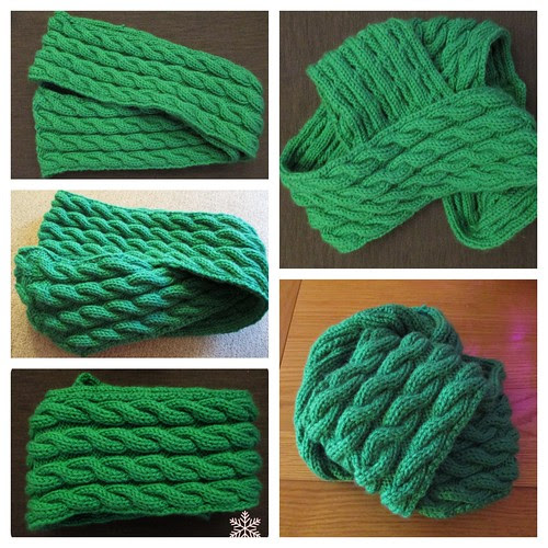Cable Snood collage