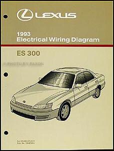 NEW 1993 Lexus ES 300 Wiring Diagram Manual Original ES300 ...