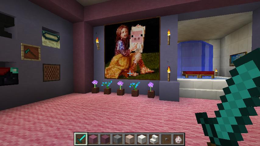 My Pink Minecraft House 3 by Futzevogel on DeviantArt