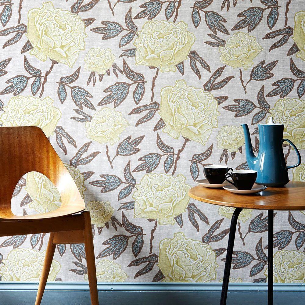 Papier Peint Classique à Motif Floral Dandy Jocelyn Warner