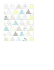 1a pattern-filled triangles LARGE SCALE  - A2 card size PORTRAIT or VERICAL