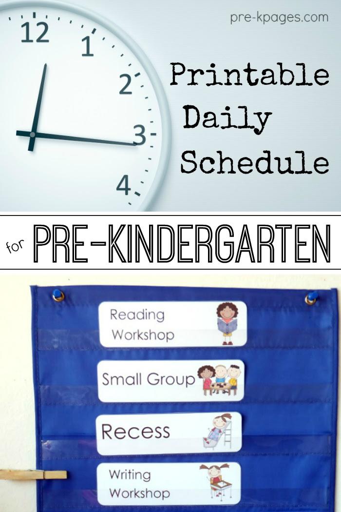 Pre-K | Preschool | Schedule | Full Day | Half Day