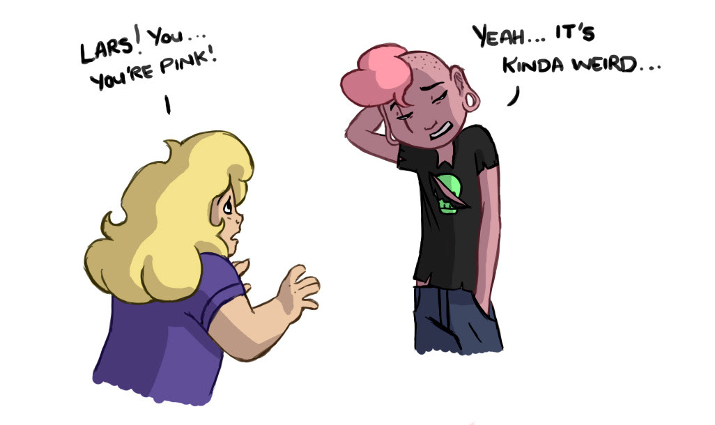 I had to do something with pink Lars and Sadie.