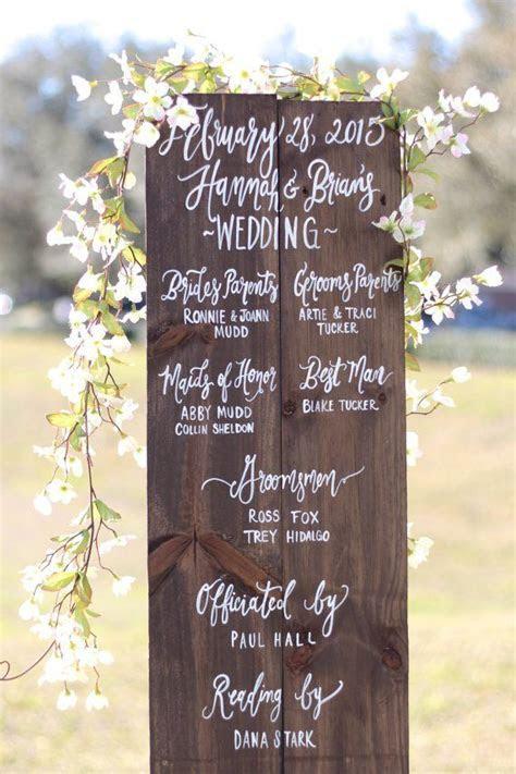 17 Best ideas about Wedding Program Sign on Pinterest