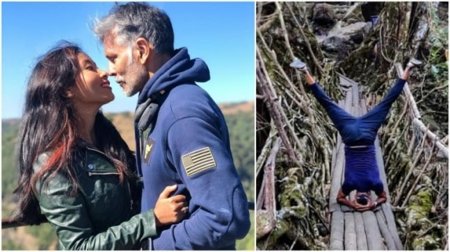 Milind Soman does headstand on Living Root Bridge in Meghalaya. Ankita Konwar reacts https://ift.tt/2L5663R