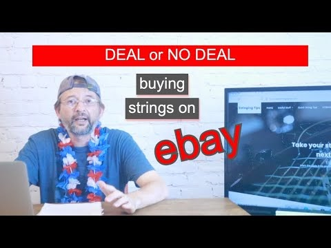 Buying Tennis Strings on eBay and finding the best deals but Beware of s...