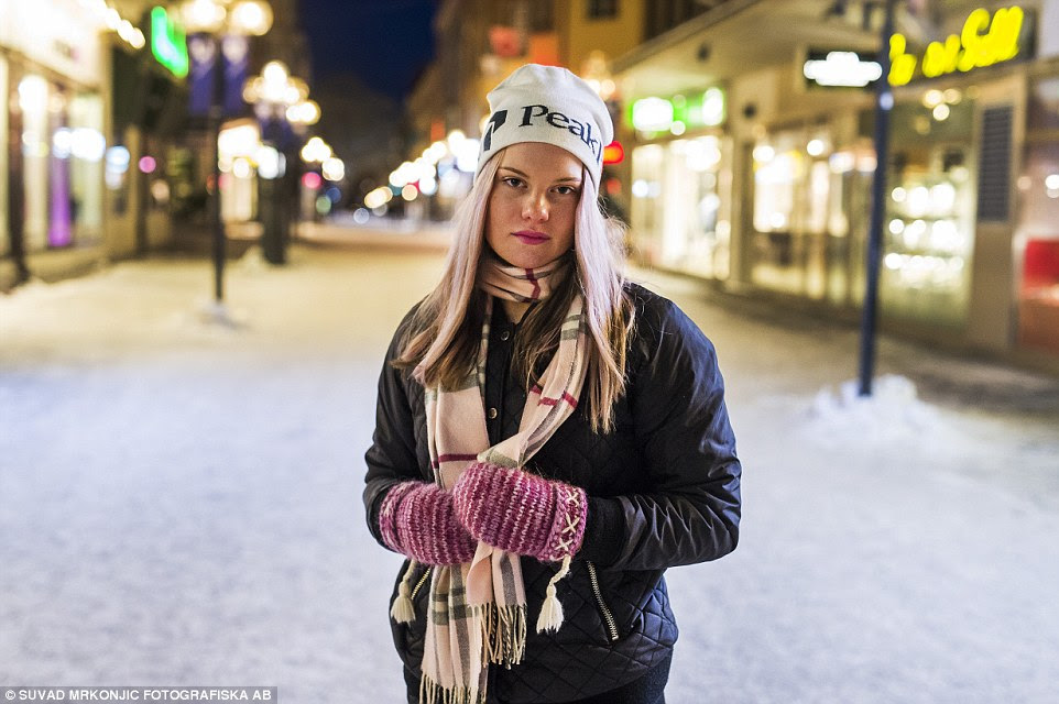 Defiant: Gry Abrahamsson, 16, vowed to never again walk the city streets alone at night. She described the attacks as 'really creepy' and expressed amazement that it would be so bad police were warning people to stay home