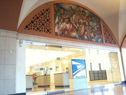 Frescoes in LA post office