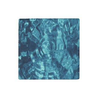 Blue Abstract Stone Magnet