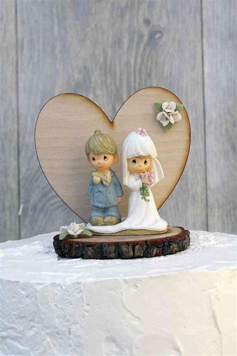 Precious Moments Rustic Wedding Cake Topper   104318