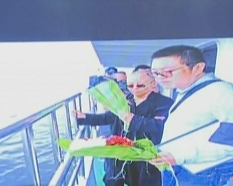 瀋陽市政府公開劉曉波海葬片段。