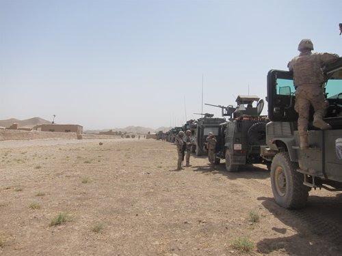 España comienza el repliegue con la entrega de la base de Ludina al ejército afgano.