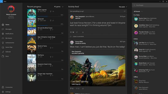 Xbox Windows10 2