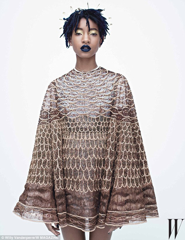 Edgy teen: Willow Smith, 15, talks about her hit song Whip My Hair and her crush on French actresses Adèle Exarchopoulos and Léa Seydoux