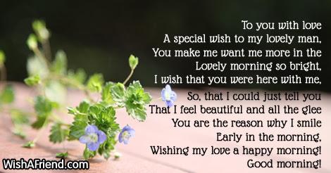 Good Morning Poems For Him