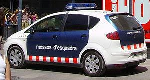 A patrol car in Barcelona