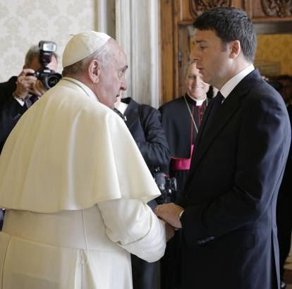 Renzi con la famiglia dal Papa