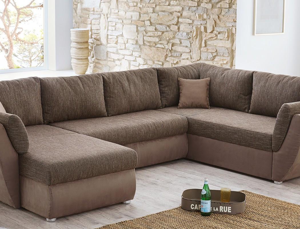 Wohnlandschaft Sofa 326x231x166cm Couch Mikrofaser lava ...
