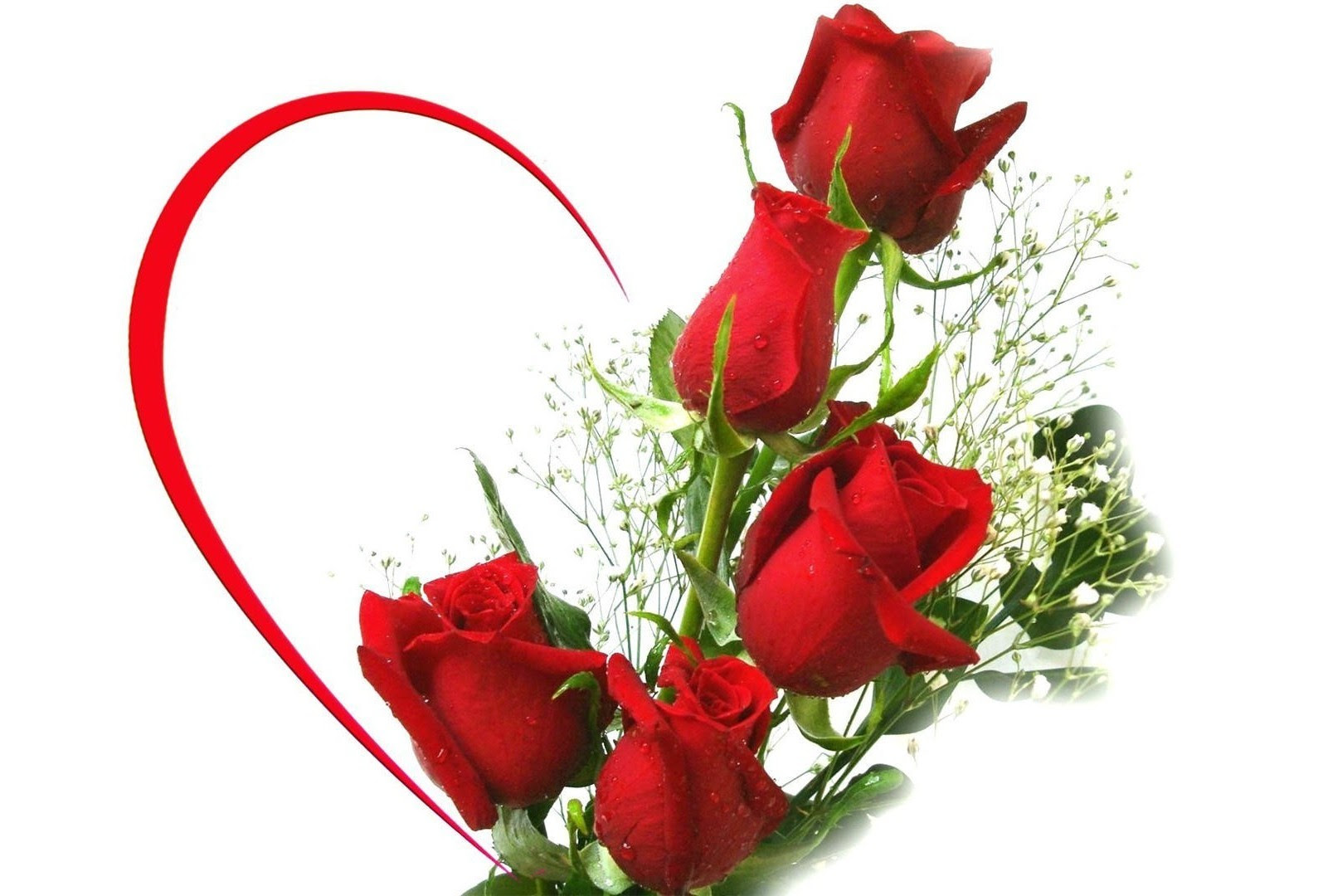 Red Rose Heart Bouquet 15951080 High Definition Wallpaper Daily