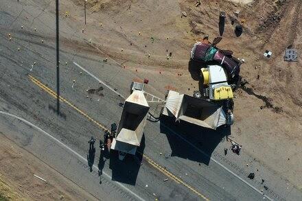 Migrants in Deadly Crash Had Crossed Through Border Wall, Officials Say