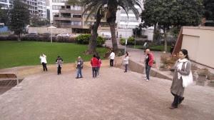 Accediendo los alumno del primer curso de prospectores de Radiaciones del Perú,Julio 2014