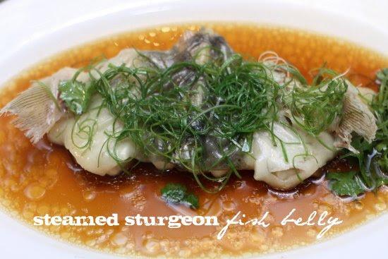 steamed sturgeon belly