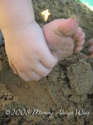 sandy baby toes