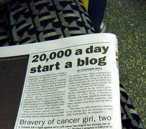 Britain Going Blog Crazy from Jan 2006 no idea what the figure is now - Metro Article