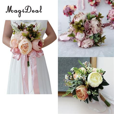 Romantic Penoy Flower Wedding Ceremony Bridal Bridesmaid