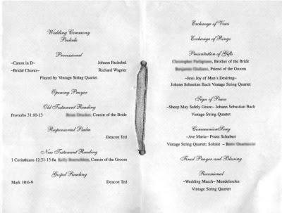 Struggling with programs wedding Program1
