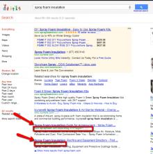 Google search for spray foam insulation