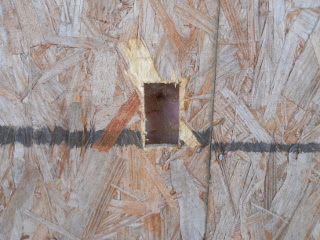 External Electricity Wall Square Cut Out