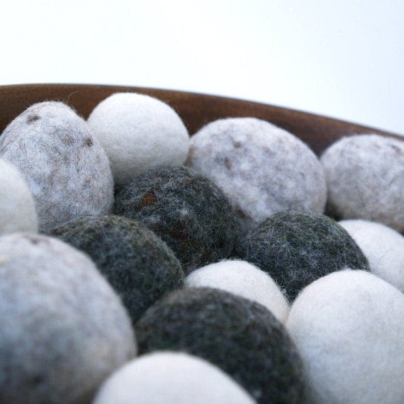 Felted Pebbles, rocks stones wool felt home decor natural colorful beach cottage paperweight dude hostess gift urban chic