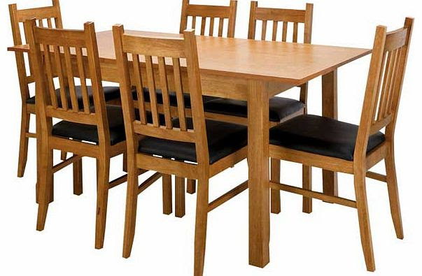 Cucina Oak Dining Table and 6 Chairs  review, compare prices, buy online